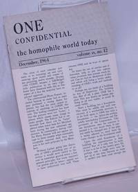 image of One Confidential: the homophile world today vol. 9, #12, December, 1964