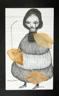Sans titre (technique mixte : encre et feuilles séchées) [dessin original signé / original drawing, signed]