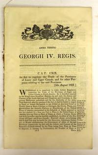 An Act to regulate the Trade of the  Provinces of Lower and Upper Canada, and for other Purposes relating to the said Provinces