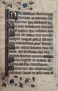 Illuminated vellum leaf from a French Psalter