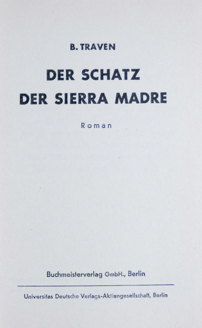 Berlin: Buchmeisterverlag GmbH, 1930. First edition thus. Hardcover. vg. 8vo. 280 pp. (4) pp. of adv...