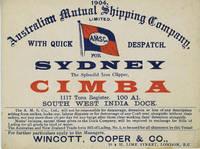 Advertising trade card, iron clipper 'Cimba', London to Sydney
