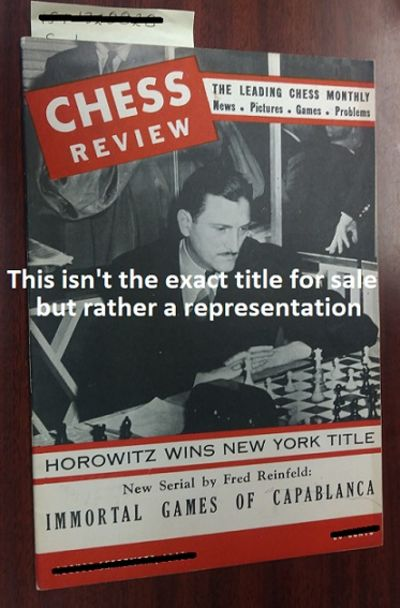 New York: Chess Review, 1943. Saddle-stitched. Octavo; G; Paperback; Spine, staple binding; Cover is...
