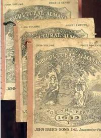 AGRICULTURAL ALMANAC Three Copies Numbers 107 -- 109, 1932 -- 1934