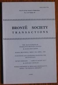 image of Brontë Society Transactions 1983 Part 93 No 3 Volume 18
