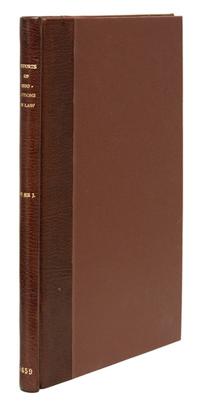 1659. The Only Published Volume of Reports of the Court of Wards and Liveries Ley, Sir James . Repor...