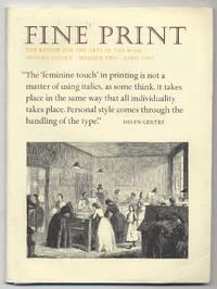 image of Fine Print: Volume 11, Number 2, April, 1985