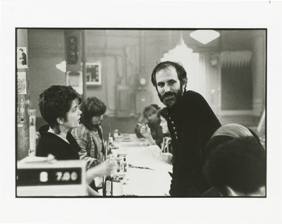 N.p.: N.p., 1985. Vintage oversize reference photograph of director Alan Rudolph and Genevieve Bujol...