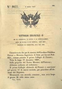 con cui si convoca il collegio elettorale di Firenze per la nomina del deputato.