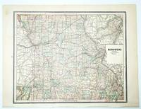 1889 Color Map of the State of Missouri