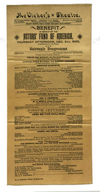Benefit in Behalf of the Actors' Fund of America, Thursday Afternoon, Dec. 5th, 1895 ... Souvenir Programme ..