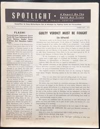 image of Spotlight: A report on the Smith Act Trials. Vol. 1 no. 5 (February 1954)