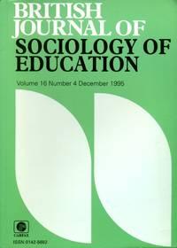 image of British Journal of Sociology of Education : Volume 16 No 4 December 1995