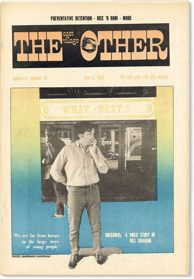 New York: The East Village Other, Inc, 1970. First Edition. Paperback. Contents include contribution...