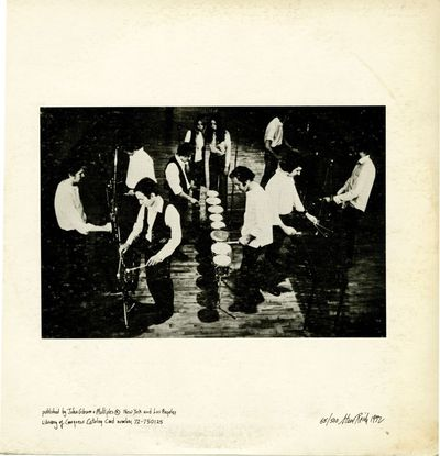 New York: John Gibson and Multiples, 1972. Limited edition LP and printed score, one of 500 copies (...