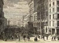 Broad Street during the Panic by Wall Street - 1873 - from Antipodean Books, Maps & Prints and Biblio.com
