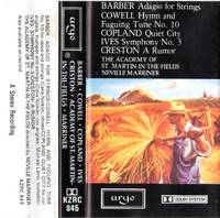 Neville Marriner Conducts American Music [AUDIO CASSETTE]