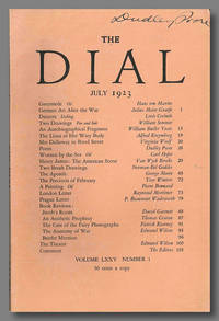 Mrs. Dalloway in Bond Street, contained in THE DIAL