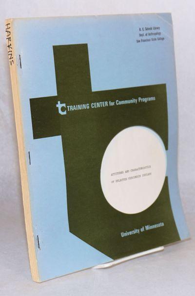 Minneapolis: Training Center for Community Programs, University of Minnesota, 1969. 49p., 8.5x11 inc...
