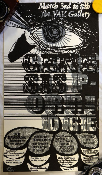 Montreal: VAV Gallery, 2003. Limited, Numbered. Poster. Fine. Montreal: VAV Gallery, 2003. Limited, ...