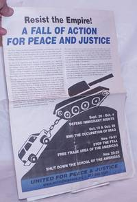 image of Resist the empire!  A fall of action for peace and justice
