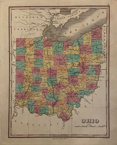 Philadelphia: Finley, Anthony, 1836. unbound. Map. Engraving with hand coloring. Image measures 12