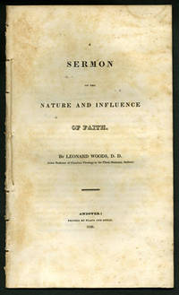 Andover: Printed by Flagg and Gould, 1826. First edition. Removed. Small dampstain along top edge, s...