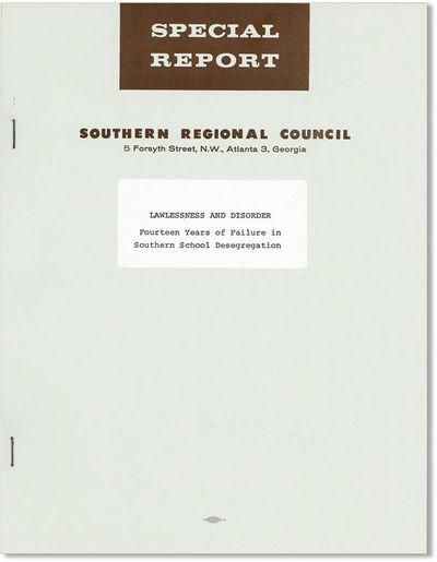 Atlanta: Southern Regional Council, . First Edition. Quarto (11