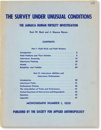 image of The Survey Under Unusual Conditions: The Jamaica Human Fertility Investigation