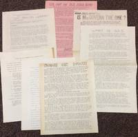 image of [Group of seven items from a Towson State College SDS activist]