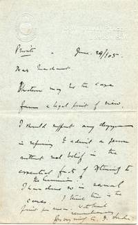 5 Autograph Letter Signed and 3 Typed Letter Signed to the Revd. (Sir) James Marchant, 1867-1956, (Arthur Foley, 1858-1946, Bp. of London 1901-1939)