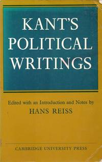 Kant's Political Writings.