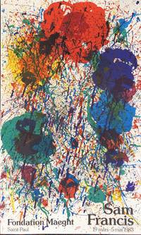 SAM FRANCIS. Foundation Maeght. Saint Paul. 19 mars-5 mai 1983. (Original Poster)