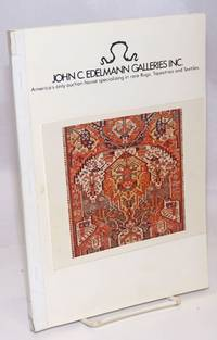 image of John C. Edelmann Galleries, Inc.: America's only auction house specializing in rare Rugs, Tapestries and Textiles.  Auction: Part I: October 24, 1981 at 10 A.M.  Middle Eastern Jewlery, Turkoman, Caucasian, Perisian and Nomadic Rugs, Textiles and a Large Selection of Carpets.  Part II: Octover 24, 1981 at 2 P.M.  Turkoman, Caucasian, Persian and Nomadic Rugs, Textiles, Related Books and a Large Selection of Carpets