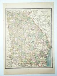 1889 Color Map of the State of Georgia