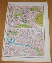 image of Street Plans of Edinburgh and Glasgow from Harmsworth's 1922 Atlas of the World - Single Sheet