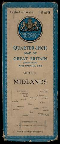 image of Midlands England and Wales Sheet 8: Quarter-Inch Map of Great Britain