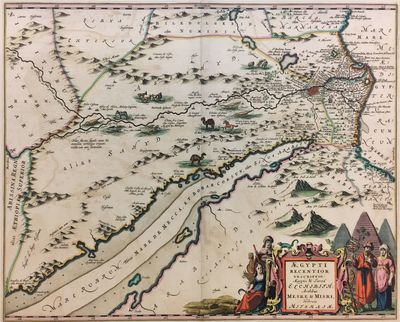 Amsterdam: Jansson, J., 1650. unbound. Map. Hand colored engraving. Image measures 21