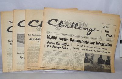 New York: Young People's Socialist League, 1959. Four issues of the newspaper, perhaps all published...