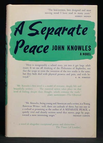 thesis essay on a separate peace Since the object of this essay is to show how both narrators get from point a to point b suggested essay topics essay option #1: john knowles' book a separate peace.