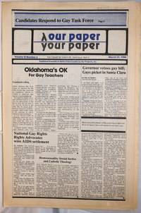 image of Our Paper, Your Paper; the gay family paper of the Santa Clara Valley; vol. 3, #6, March 21, 1984