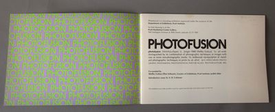 Pratt Institute, New York, (1980). Very good. First Edition 7 x 10 inches, unnumbered pages, wrapper...