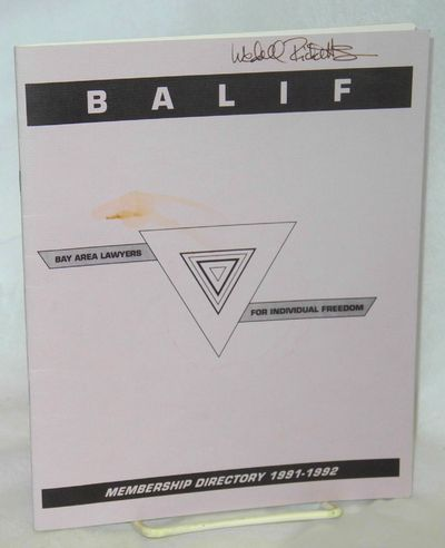 San Francisco: BALIF, 1991. i, 34p., 7x8.5 inches, introduction, listings, ads; small stain and owne...