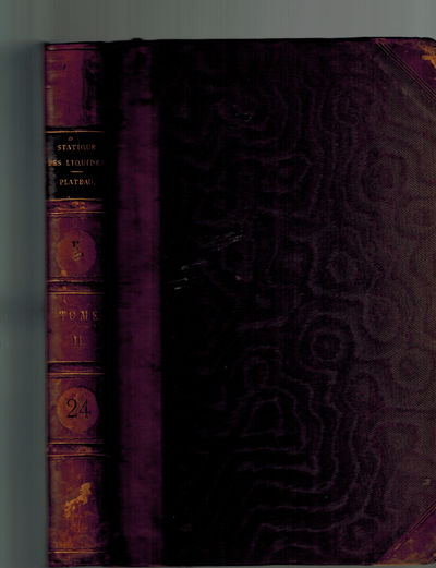 Paris and Londres : Gauthier-Villars, 1873. 2nd volume only. Very Good, leather spine label with gil...