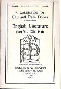 Catalogue 232/n.d. : English Literatur Part VII (Gla-Hol)