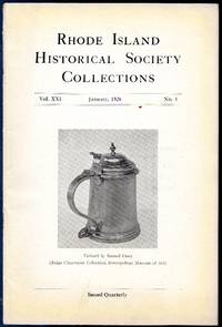 image of Vintage Issue of Rhode Island Historical Society Collections for January  1928