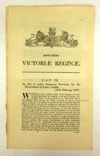 image of An Act to make temporary Provision for the Government of Lower Canada