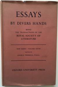 image of Essays By Divers Hands Being the Transactions of  Royal Society of Literature New Series Volume XXVII