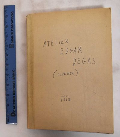 Paris: Galerie Georges Petit, 1918. Hardcover. Good only, some dampstaining and light rippling to to...