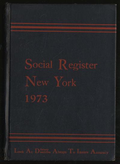 New York: Social Register Association, 1972. Hardcover. Very Good. First edition. Volume LXV. Very g...